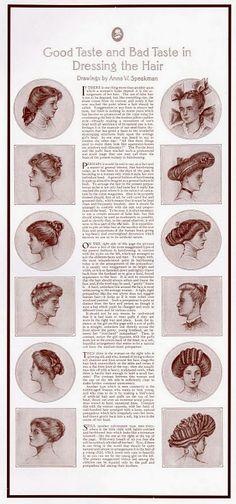 i love historical clothing: Edwardian hairstyles