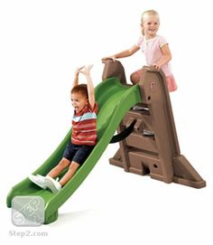 WE HAVE THIS and my kids love it!  Naturally Playful® Big Folding Slide  | Outdoor Play | by Step2