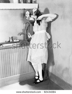 Young girl gets a sip of pump water in the kitchen Stock Photo , Marco Pierre White, Kitchen Photos, Stock Foto, Illustration, Branding Design, Creative, White Dress, Pumps, Water