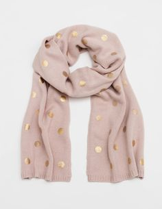 Metallic Spotty Scarf AD246 Hats, Scarves & Gloves at Boden
