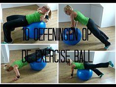 10 Oefeningen op de Exercise ball - beginners - YouTube
