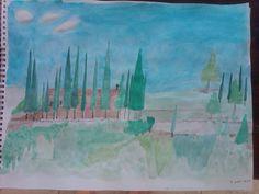 13th Century Chapel Tarsina water color