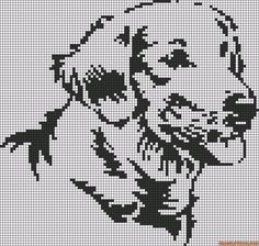 Labrador free cross stitch pattern
