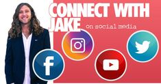 connect with jake on social media