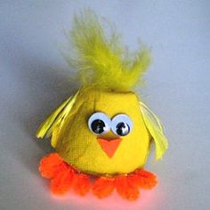 Egg  Carton Chick - Kids Craft