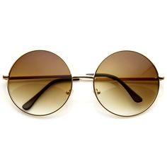 Oversize Vintage Inspired Metal Round Circle Sunglasses 8370 from zeroUV♥ [perf measurements]