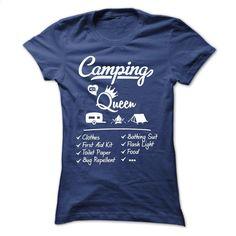 Camping Queen T Shirt, Hoodie, Sweatshirts - teeshirt dress #tee #teeshirt
