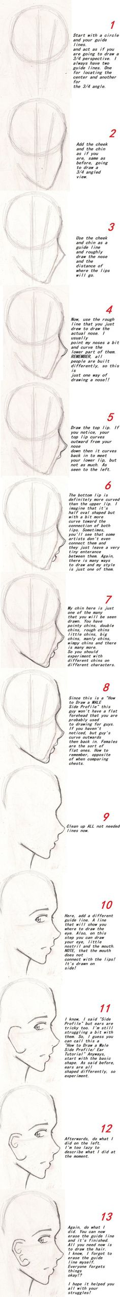 I've been told that from my old Side Profile Tutorial that I'm a genius and that my way is an easier method!! Yes, I'm taking pride in that. xD So I wanted to update this since my dr...
