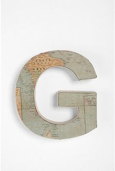 G for Genevieve! Map letters - found on UrbanOutfitters, but I am so making my own!