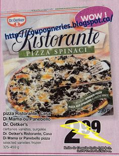 Coupons et Circulaires: 1,99$ Pizza Dr Oetker