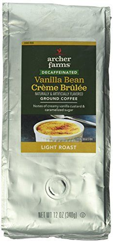 12oz Archer Farms Flavored Ground Coffee DECAFFEINATED Vanilla Bean Crme Brulee Light Roast One Bag -- Check out this great product. (This is an affiliate link)