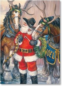 Western Christmas Cards from Leanin' Tree feature cowboys, horses, and other inspiring images of the Old West. Christmas Horses, Cowboy Christmas, Primitive Christmas, Father Christmas, Christmas Love, Country Christmas, Primitive Fall, Western Christmas Tree, Primitive Snowmen