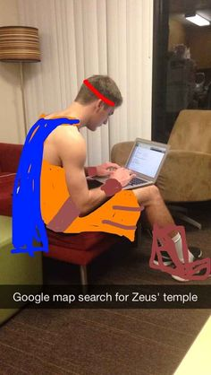 Hercules from Hercules | Student Turns Roommate Into A Variety Of Disney Characters On Snapchat