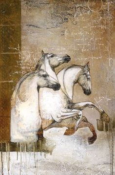 """Jeux de jambes"", on by Lea Riviere at Painted Horses, Horse Drawings, Animal Drawings, Horse Pictures, Art Pictures, Contemporary Art Gallery, Arte Fashion, Horse Sketch, Frida Art"