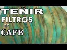 Como pintar filtros de café en colores para muebles - COLOR YOUR COFFEE FILTERS - YouTube