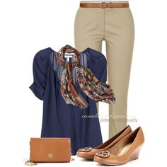 """""""Tory Burch Shoes & Wallet"""" by casuality on Polyvore"""