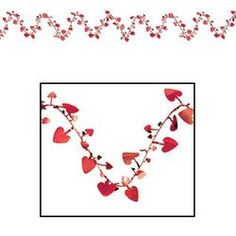 Gleam N Flex Heart Garland red Party Accessory  1 count 1Pkg ** To view further for this item, visit the image link.