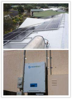 Location:Australia Power Output: 7 kW 1 Trannergy PVI5400TL; Monitoring System: Pvoutput;