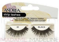 Andrea Strip Lash 28 Black #madamemadeline #andrea #andrealashes #andrea28