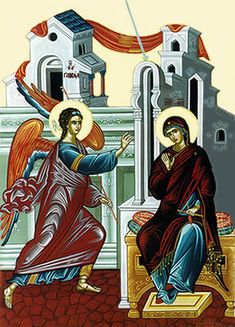 Learning to Say Yes – A Sermon on the Annunciation, Luke Advent Luke 1, Church Interior, Byzantine Icons, Orthodox Christianity, Lord And Savior, Traditional, Artwork, Anime, Painting