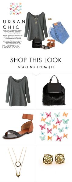 """Sem título #2216"" by dedebrito ❤ liked on Polyvore featuring Levi's, Marni, Chloé, Umbra and WithChic"