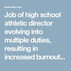 Job Of High School Athletic Director Evolving Into Multiple Duties,  Resulting In Increased Burnout And Turnover
