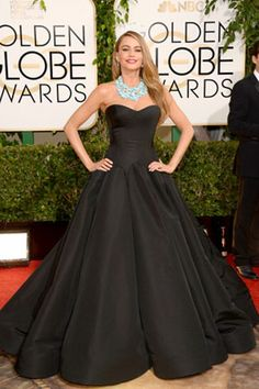Sofia Vergara in Zac Posen at the 2014 Golden Globes