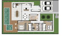 Best House Plans, House Floor Plans, Casas The Sims Freeplay, Morden House, Good House, Home Interior Design, Planer, Architecture Design, Sweet Home