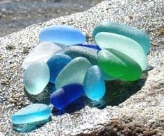 Beach combing for sea glass is one of my favorite things.