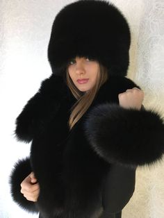 Tails were made of same fox fur - it is not a real tails - All 3 tails is detachable. !Tails also could be wearing like wristbands (Hand Cuffs) Material: Real Genuine Northern Blue Fox Fur. Natural Viscose Lining Boa Size: 50 Inches (130cm) length. (With Tails - 75 (190cm) Length) Sable Coat, Leather Bustier, Fur Accessories, Fabulous Furs, Double Breasted Coat, Cool Hats, Fur Fashion, Hat Sizes, Fox Fur
