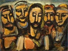 Christ and the Apostles by Georges Rouault, ca. 1931.