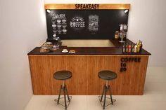 Cafe Bar, Liquor Cabinet, Kiosk, Coffee, Storage, Packaging, Furniture, Mini, Home Decor