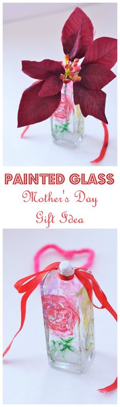 Need an easy homemade Mother's Day gift idea for you or the kids? Check out our painted bottle DIY project! It's cute and customizable to your skills!