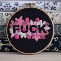 A small fuck I made a while ago and actually forgot to post, wooops! Embroidery Works, Modern Embroidery, Embroidery Hoop Art, Hand Embroidery Designs, Cross Stitch Embroidery, Embroidery Patterns, Cross Stitch Patterns, Machine Embroidery, Diy Trend