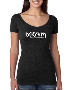Once You Go Bikr*m You Don't Go Back - Ladies Scoop Neck Fitted