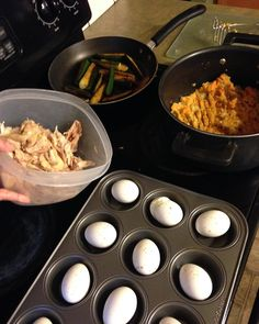 Here's what meal prep looked like for me yesterday!  What's on your food prep list?? I baked #eggs for an easy #protein to grab and go! Sweet #potatoes that I'll add coconut #oil and #cinnamon to for a carb. #Zucchini with chili pepper and curry powder. And cheated with a rotisserie #chicken that I pulled apart and removed the skin. I'll use the chicken on #salad and maybe alone with #veggies. I have #fruit to wash and a #cucumber to cut up as well!  I like making things that I can #eat many…