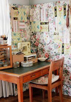 Fabric screen....the linen garden: an interview on the hop....