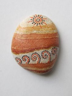 Sunset - hand painted rock