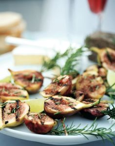 grilled figs on rosemary skewers! Happy Food on a Stick Day!