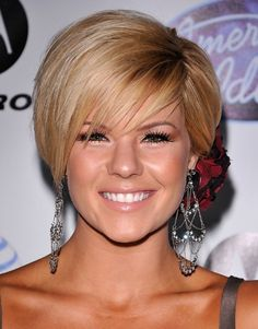 HAIRSTYLES FOR ROUND FACE AND THIN HAIR- LOVE it, maybe a little darker though