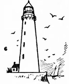How to Draw Lighthouses with Easy Drawing Step by Step Instructions-kids do on the screen beside example Easy Drawing Steps, How To Draw Steps, Step By Step Drawing, Learn To Draw, What To Draw Easy, Sharpie Drawings, Doodle Drawings, Cartoon Drawings, Easy Drawings