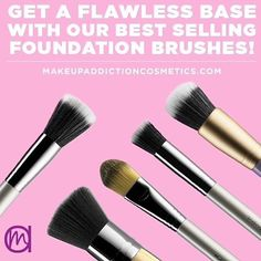 STIPPLER This large duo fibre brush is perfect for stippling liquid and powder products for a flawless airbrushed and sheer finish. 🎨🎨🎨🎨🎨🎨🎨🎨🎨🎨🎨 THE BUFFER Perfect for applying foundation for a professional airbrushed finish. 🎨🎨🎨🎨🎨🎨🎨🎨🎨🎨🎨 TRADITIONAL PAINTER A flat brush ideal to create a flawless base using primer and controlled application of foundation and concealer. 🎨🎨🎨🎨🎨🎨🎨🎨🎨🎨🎨 SHORT DUO FIBRE This short and dense brush is perfect for the precise…
