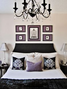 Elegant Bedroom With Black Chandelier Budget Bedroom, Bedroom Decor, Bedroom Ideas, Bedroom Designs, Bedroom Furniture, Garden Bedroom, Bedding Decor, White Furniture, Kids Bedroom