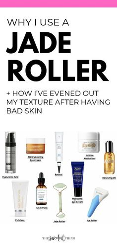 Why I use a Jade Roller and How I've evened out my texture after having bad Skin. Updated Skin Care Routine, Emily Gemma, The Sweetest Thing Blog Skin Care Routine For 20s, Skin Care Routine 30s, Skincare Routine, Best Skincare Products, Best Face Products, Makeup Products, Beauty Products, Lush Products, Natural Products
