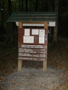 Trail Post Sign