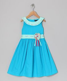 Take a look at this Blue Earlene Dress - Toddler & Girls by Periwinkle on #zulily today!