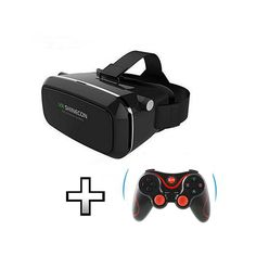 f2f5597f3d53 VR SHINECON Moke Plastic Version Virtual Reality 3D Glasses Google Cardboard  HD VR Glasses + Wireless