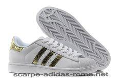 new concept 60a1a 7c88a Superstar 2 Adidas Bling Uomo Donna Bianche Metallico Oro Casual Scarpe ( Adidas italia)