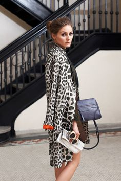 Olivia Palermo / gorgeous animal print coat.