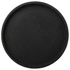 Zakkia Concrete Round Tray - Black / Kitchen tray / Coffee table organiser tray in black concrete